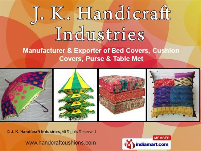 Designer Cushion Covers By J K Handicraft Industries Jaipur