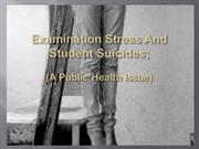 examination stress and student suicides