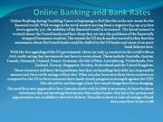 Online Banking and Bank Rates