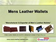 Mens Id Wallets By Mens Leather Wallets (An Unit Of X L Enterprises