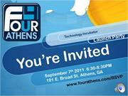 four athens technology incubator launch party