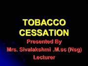TOBACCO CESSATION ppt