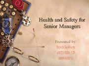 health safety for senior manager ppt presentation