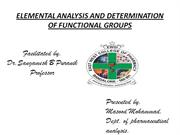 DETERMINATION OF FUNCTIONAL GROUPS