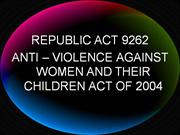 anti-violence against women and their children