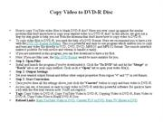 Copy Video to DVD-R Disc