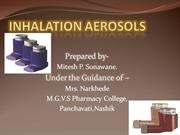 INHALATION AEROSOLS