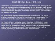 Best CDs for Senior Citizens