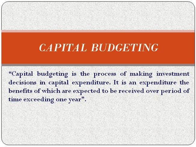 Capital budget powerpoint presentation slides | powerpoint.