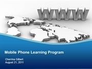 the mobile phone learning program