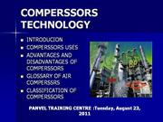 COMPERSSORS TECHNOLOGY
