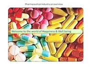 Pharmaceutical Industry an overview