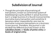 Subdivision of Journal