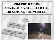 controlling street lights on sensing the vehicles