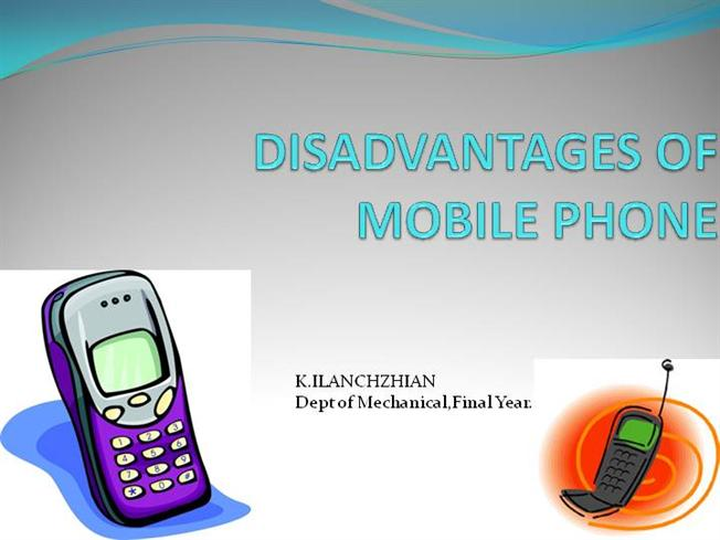 benefits and disadvantages of mobile phones