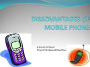 DISADVANTAGES OF MOBILE PHONE
