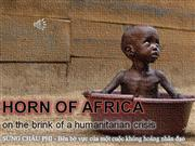 HORN of AFRICA-On the brink of a humanitarian crisis