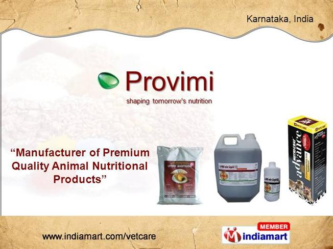 Animal Nutritional Products By Provimi Animal Nutrition India Pvt