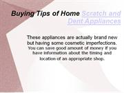 buying tips scratch and dent appliances