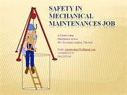 safety in mechanical maintenance