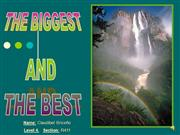 The biggest and The best. Angel Fall