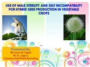 use of male sterility and self incompatibility for hybrid seed product