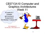 CE0713A10 Computer and Graphics Architectures Week 11 Bitwise operator