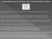revealed jailbreak and unlock iphone 4 3gs 4.3.5 using fastra1n 0.2 up