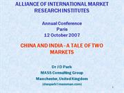 AIMRI presentation - China and India 2007