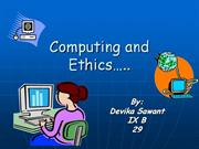 COMPUTING ETHICS