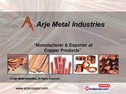 Copper Sheets And Profiles By Arje Metal Industries Mumbai
