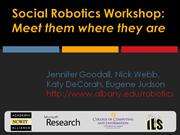 Social Robotics Workshop
