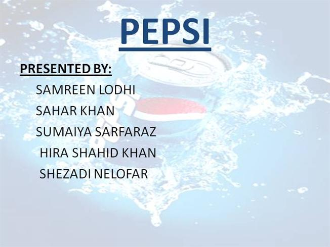 pepsi introduction ppt