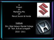 Maruti & Honda marketing mix