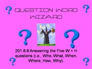 QUESTION WORD WIZARD