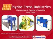 Industrial Filter Press By Hydro Press Industries Coimbatore