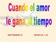 LECTIO DIVINA PARA NIOS PARA EL 18 DE SEPTIEMBRE DE 2011