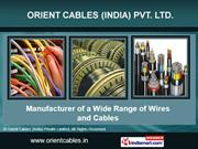 Coaxial Cables By Orient Cables (India) Private Limited New Delhi