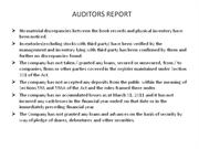 auditors report ppt