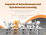Aspects of Asynchronous and Synchronous Learning - Team B - Week 4 DRA