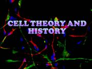 cell theory and history