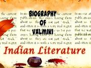 Biography of valmiki