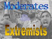 Moderates vs extremists