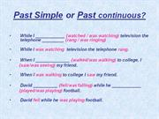 past simple past cont