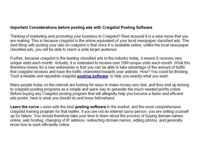 CL Bot Pro Craigslist Marketing Software Auto Poster for CL Tools