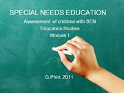 identification and assessment of children with sen