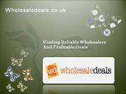 Finding Reliable Wholesalers And Profitable Deals