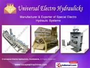 Coir Pith Processing Machines By Universal Electro-Hydraulic Machines