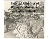 pictorial glimpse of women's movement in india