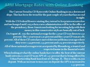 ARM Mortgage Rates with Online Banking